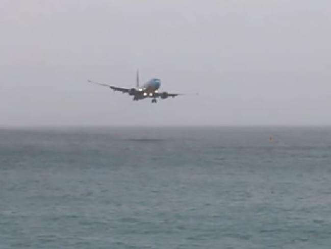 The plane came close to the water. Picture: ATC Pilot