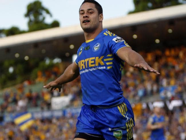The Hayne Plane has landed, and the 30-year-old, pictured in 2013, has returned to his old club, Parramatta Eels. Picture: AAP Image/Action Photographics, Renee McKay