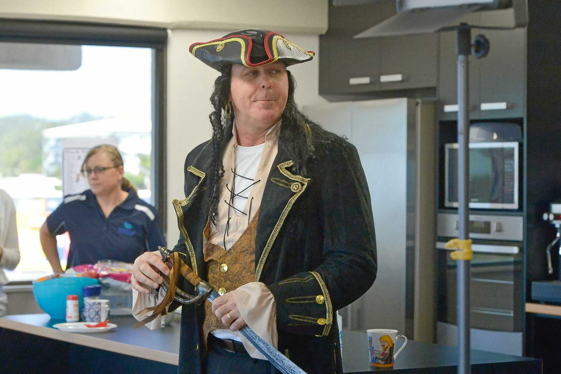 Best dressed male went to Paul Howlett.Gladstone Area Water Board had a pirate day fund raiser for 2yo Bella Kasper.