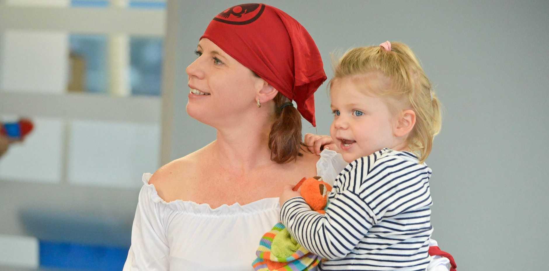 Robin and Bella Berthelsen (2) at GAWB's Pirate Fun day.