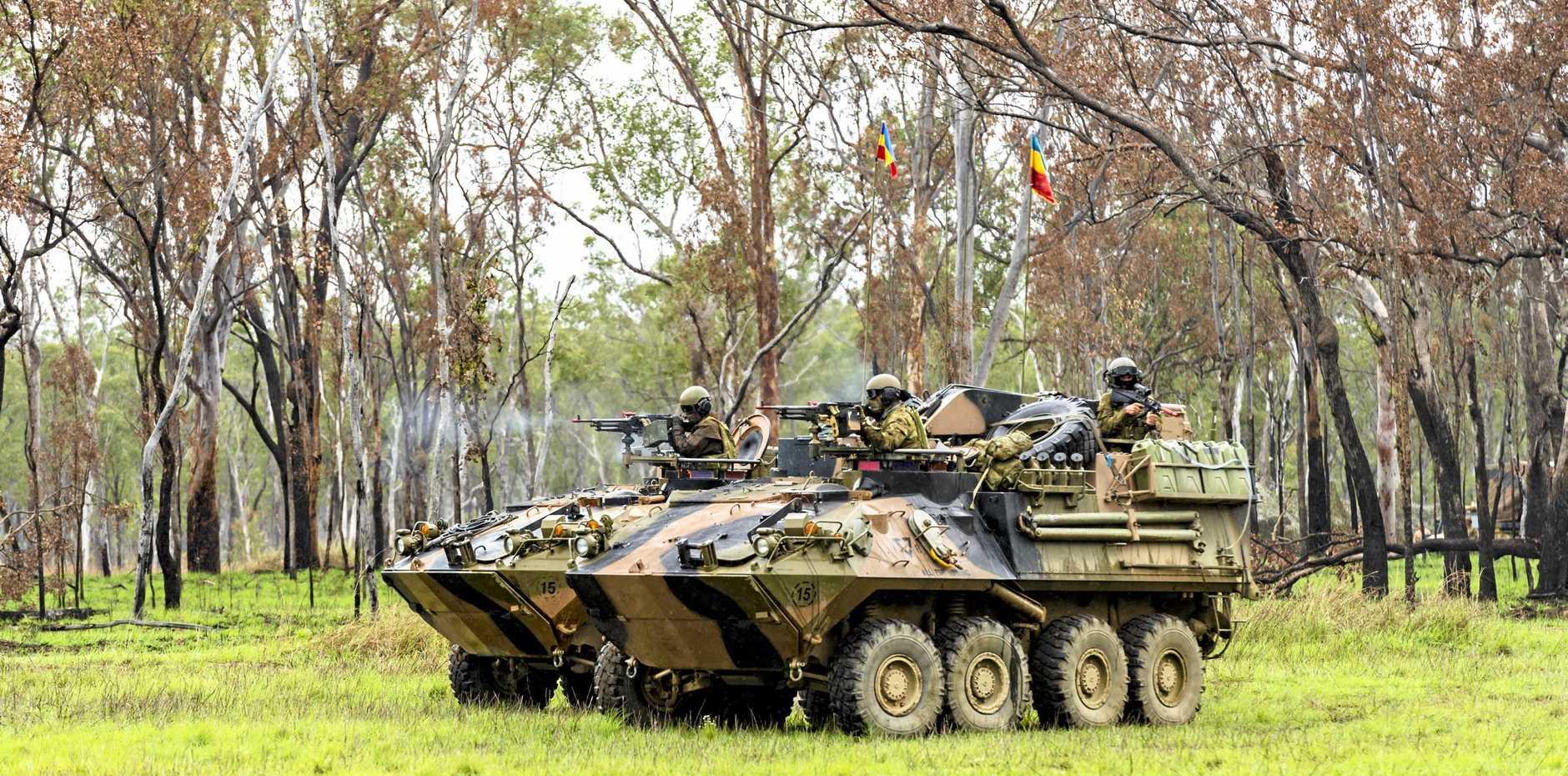 Shoalwater Bay training area.  Exercise Diamond Run.7th Brigade.ASLAV Ambush training scenario.
