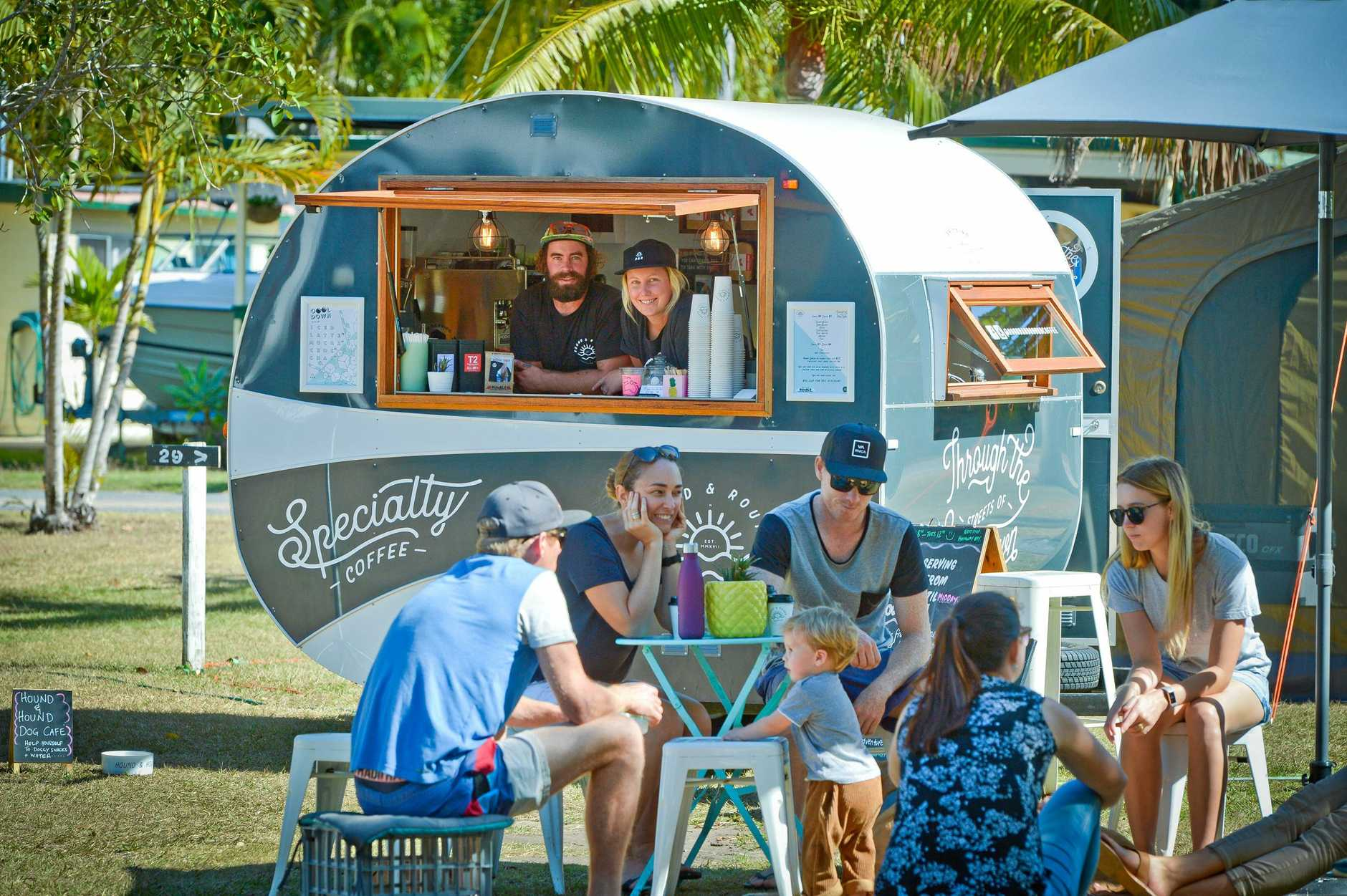 Andy Hoffman and Jess Davidson are using their cute little coffee van