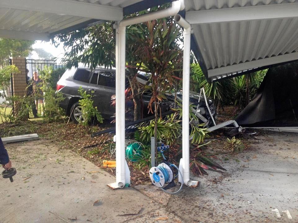 Female driver was taken to Rockhampton Hospital.