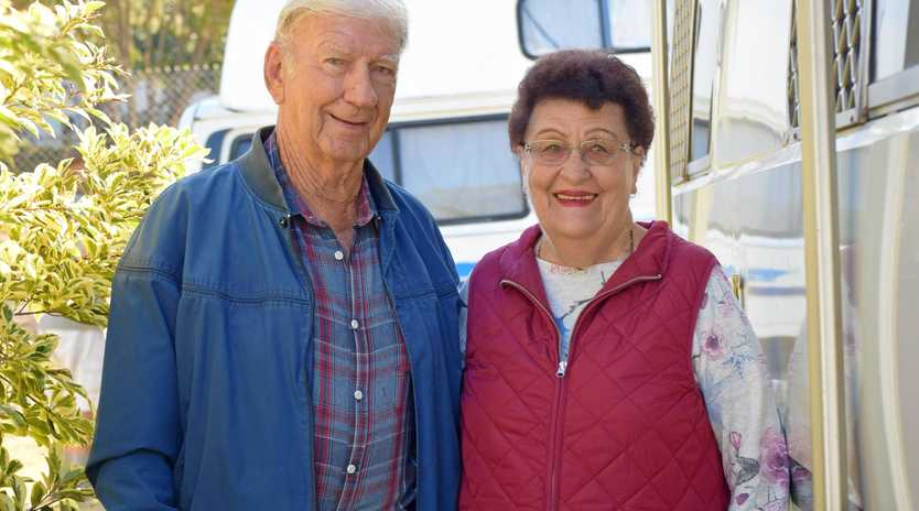 Foundation members behind Rum City Ramblers Pam and Joe Draheim said they love being grey nomads and visiting the various towns.