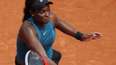 Sloane Stephens in action during the final.