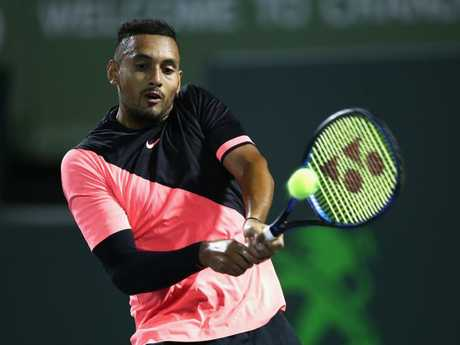 Nick Kyrgios has been praised as a rare talent by Andre Agassi. Pic: Getty