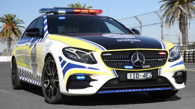 A Mercedes-Benz E43 highway patrol car used by Victoria Police. Picture: Cristian Brunelli