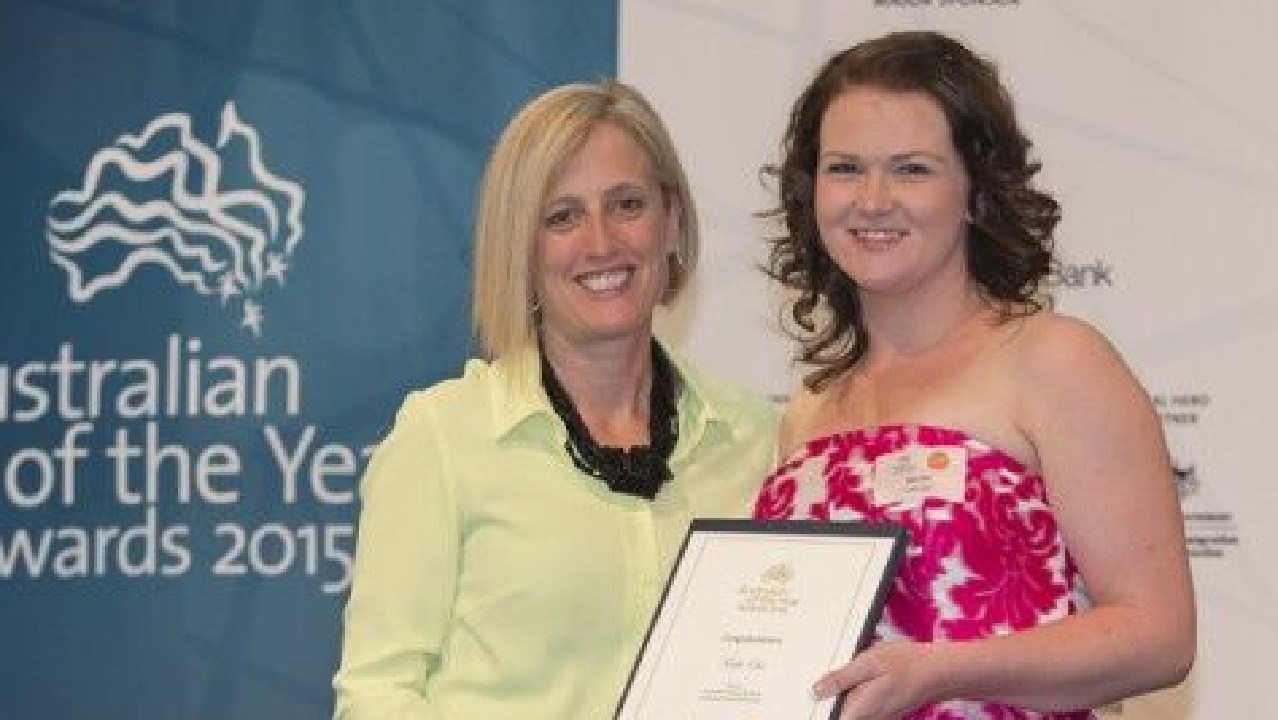 Kylie Travers was a Young Australian of the Year finalist in 2015. Picture: Supplied