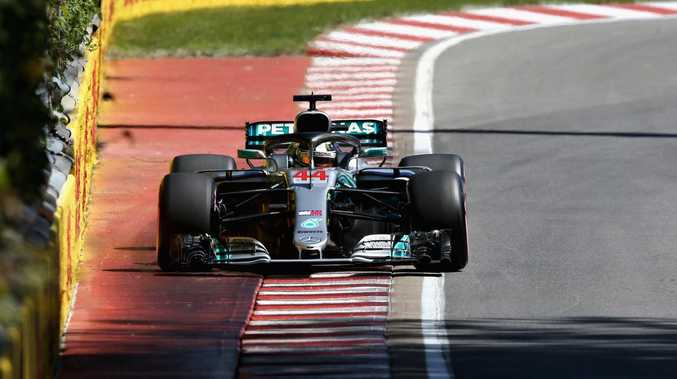 Lewis Hamilton on track during qualifying for the Canadian Formula One Grand Prix at Circuit Gilles Villeneuve