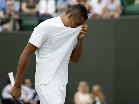 Struggling with injury has been a regular issue for Kyrgios. Pic: AFP