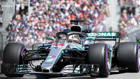 Hamilton will start from behind the front-row in Montreal for the first time in seven years