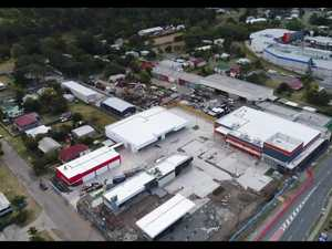 Aerial footage of One Mile Hotel development site