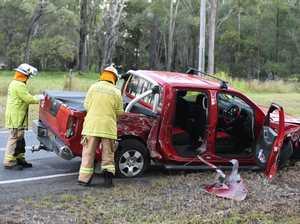 Booral Rd 4 vehicle crash