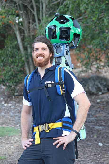 'The Bear' carries the 18kg Google Trekker device every day.