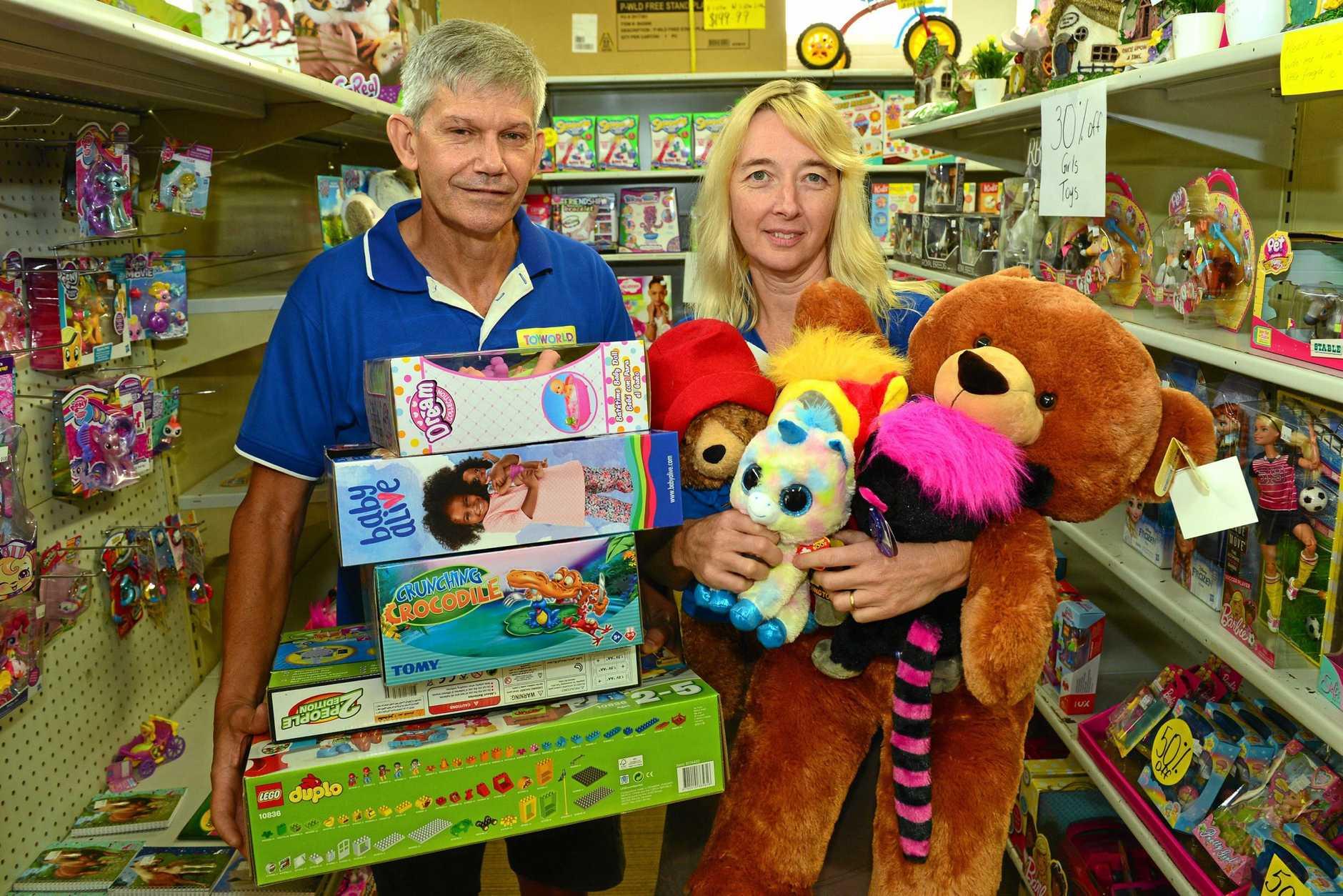 Geoff and Karen Jensen closed Toyworld in Nambour.