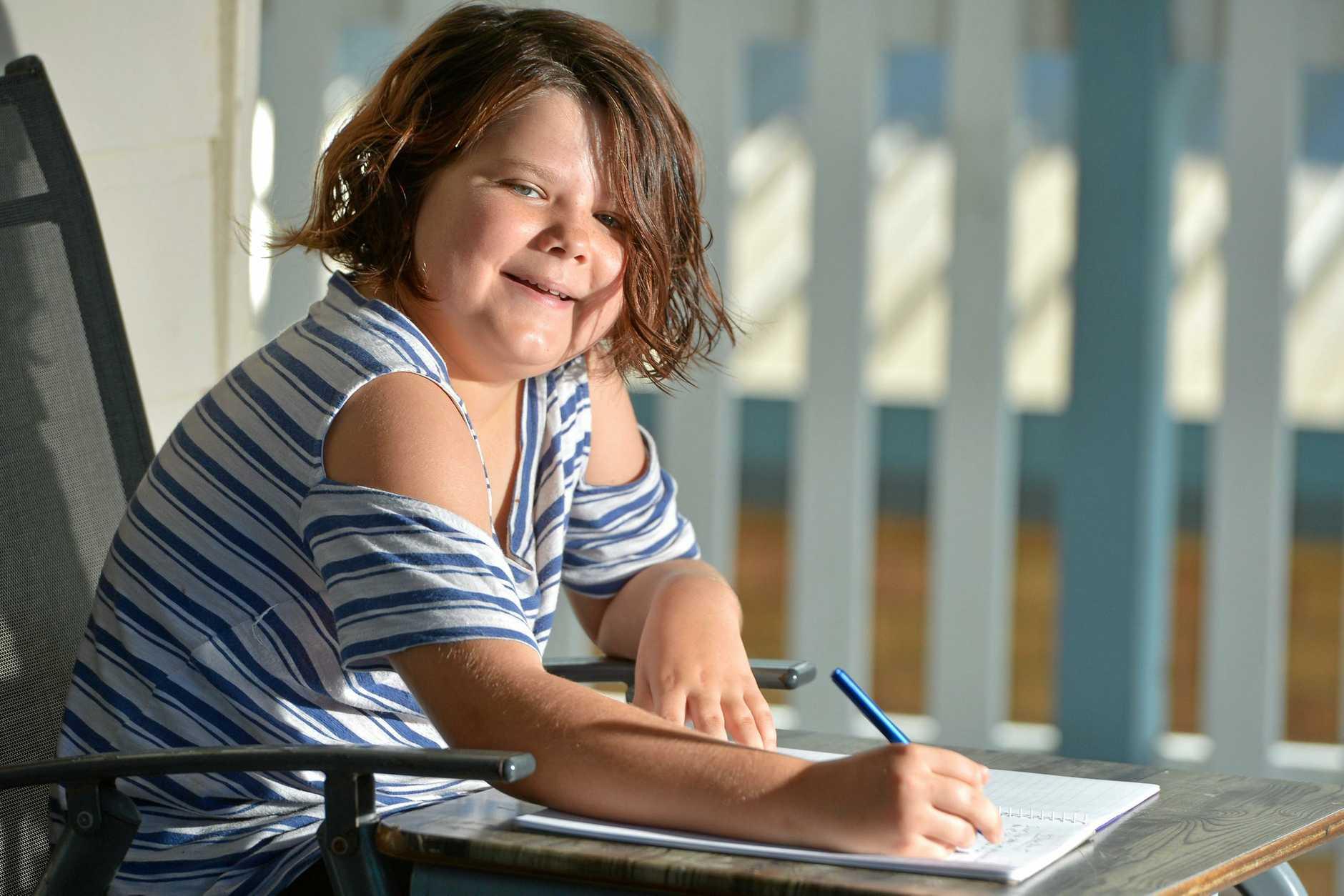 Chloe Sheppard wrote to her mum Kelly about school yard bullies.