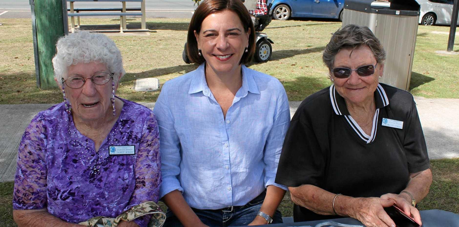 Nanango MP Deb Frecklington said Kilkivan will get a community nurse thanks to  Mavis O'Neill, Jan Kirby (pictured) and Joyce Koy.