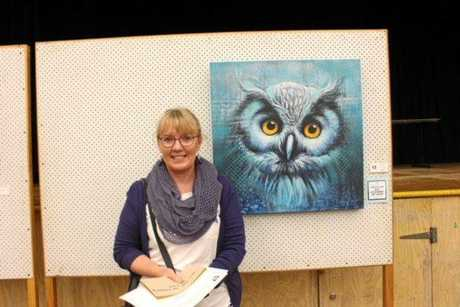 The Owl was painted by Julianne Gosper which won the Lewis Elem award which is the major award of the night