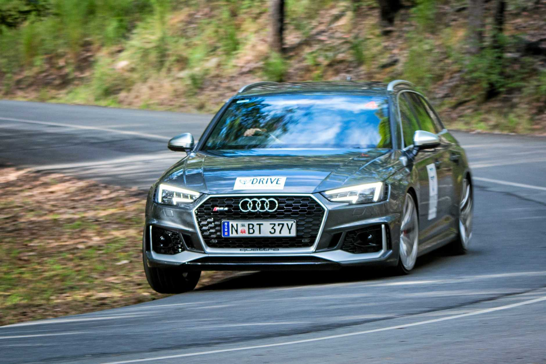 2017 Bathurst 1000 champion Luke Youlden tackles the Noosa Hill Climb in a 2018 Audi RS4 Avant.