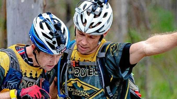 Damon Georke and David Schloss (right) in action at Wildside Geoquest Special Edition adventure race.