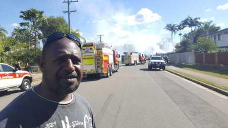 Kadik Ghee tried his best to put out the Kelso house fire on Monday, June 11, 2018.