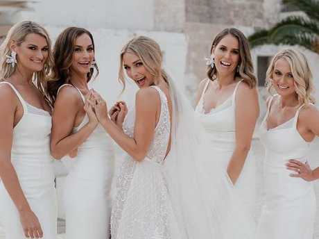 Anna Heinrich, centre, and her bridesmaids. Picture: Instagram