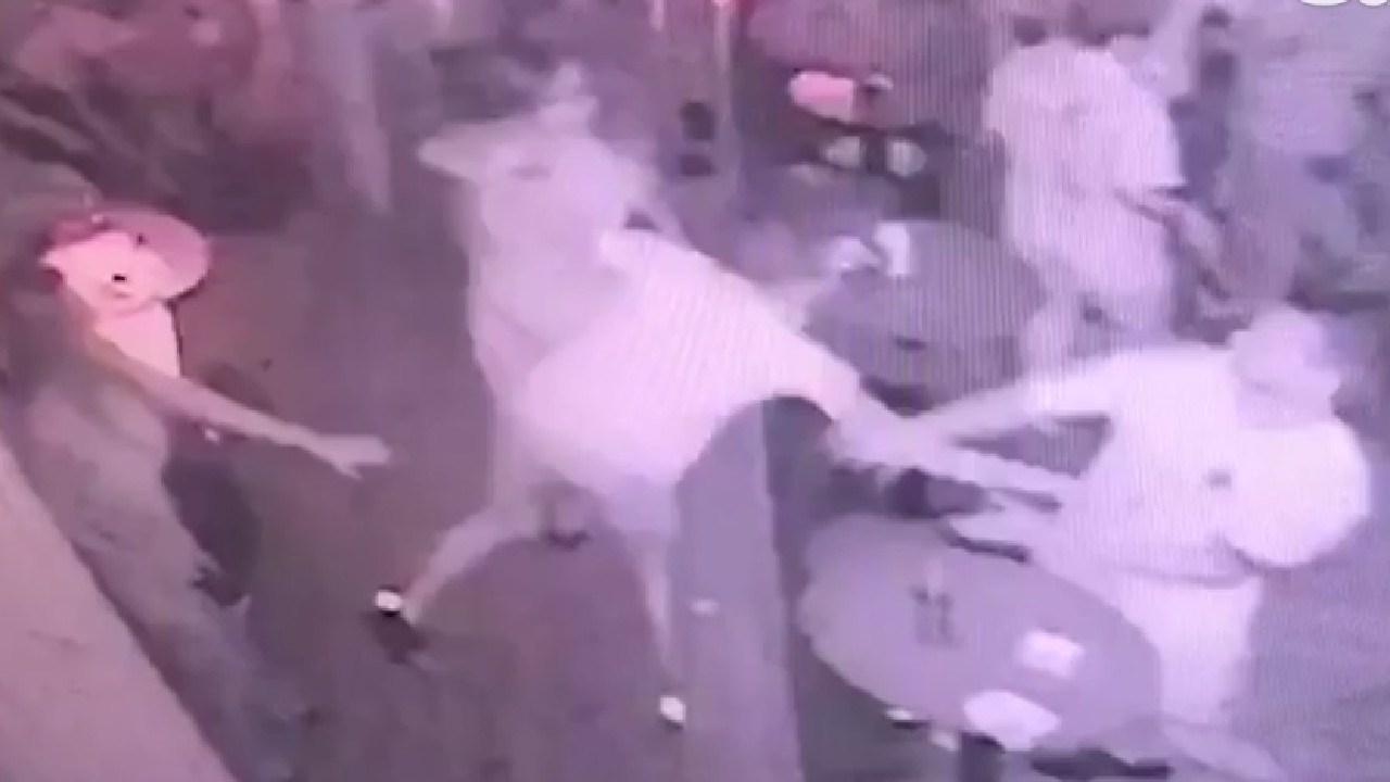 Man seen stabbing Aussie tourist after he pinched a woman's bottom
