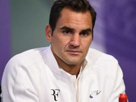 "Is there even Wimbledon without the ""RF"" brand."