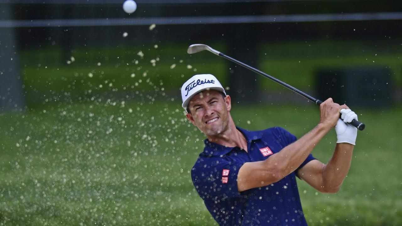 Adam Scott has made changes to his team ahead of the US Open. (AP Photo/David Dermer)