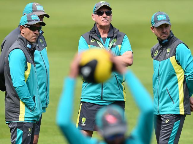 The coaching brains' trust.