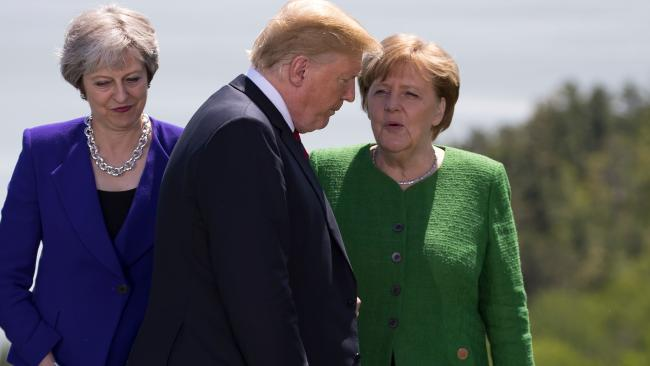 British Prime Minister Theresa May was given the cold shoulder by US President Donald Trump - but her own colleagues had worst to say.