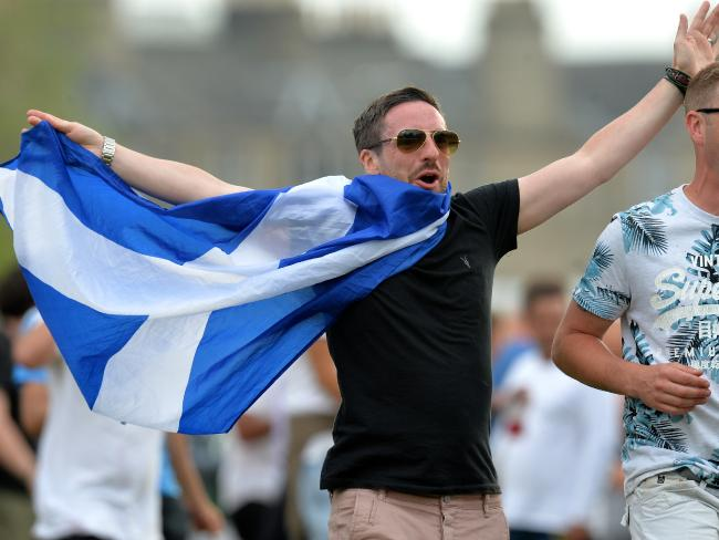 Scotland fans invade the field as Scotland beat England by 6 runs