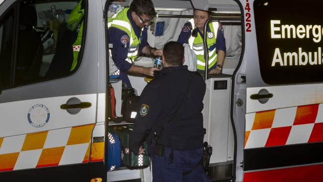 The driver's wounds were treated at the scene. Picture: Dean Asher