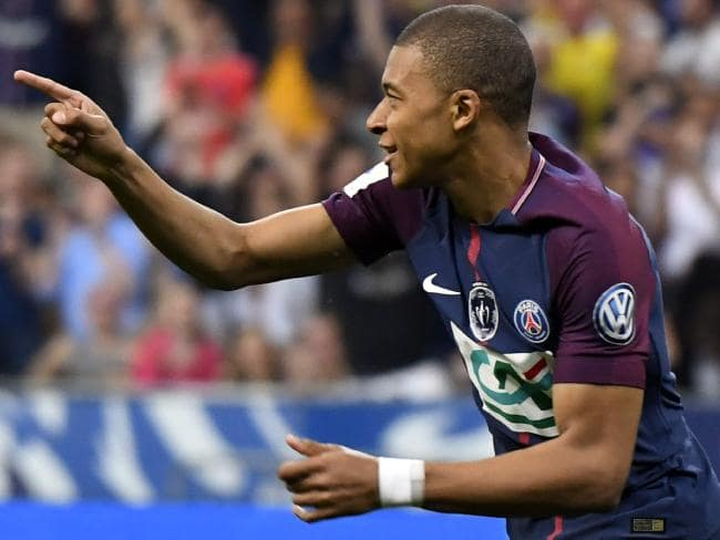 Paris Saint-Germain's French forward Kylian Mbappé.