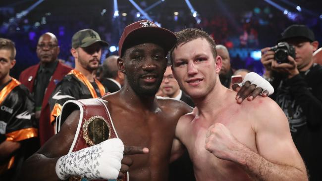 The fight between Jeff Horn and Terence Crawford to decide the WBO Welterweight title at the MGM Grand in Las Vegas, Nevada. Pic Peter Wallis
