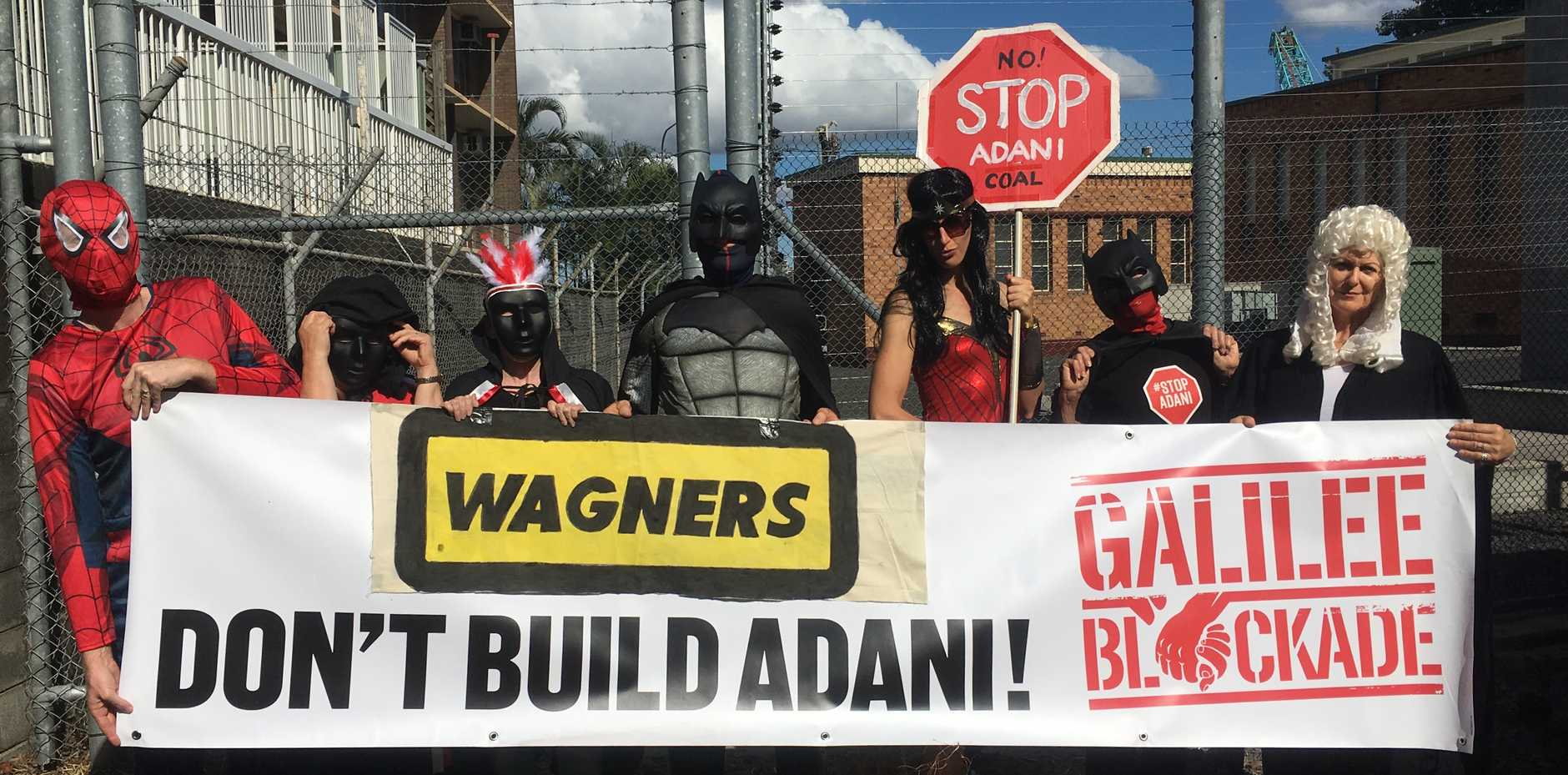 Adani protesters at Wagners site.