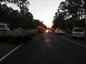Four car crash on Booral Rd
