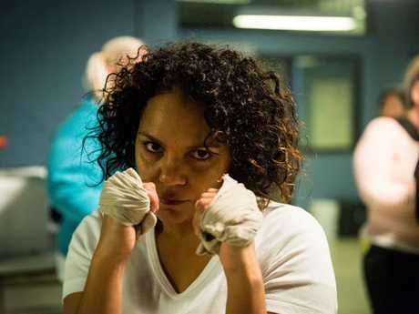 Rarriwuy Hick as Ruby Mitchell in a scene from season six of the TV series Wentworth. Supplied by Foxtel.