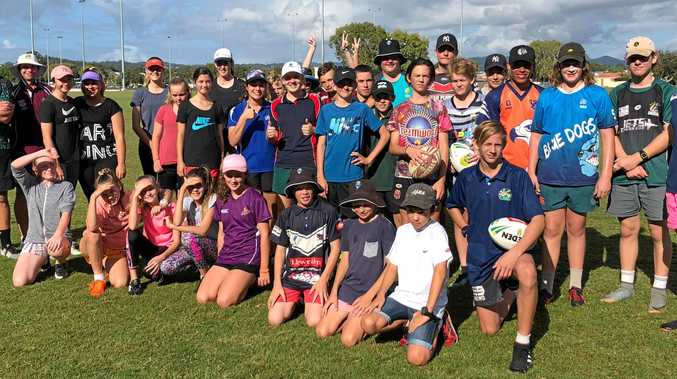 NEW SKILLS: Laidley State High School Touch Football Academy students participated in a three day development camp hosted by Palm Beach Touch Association.