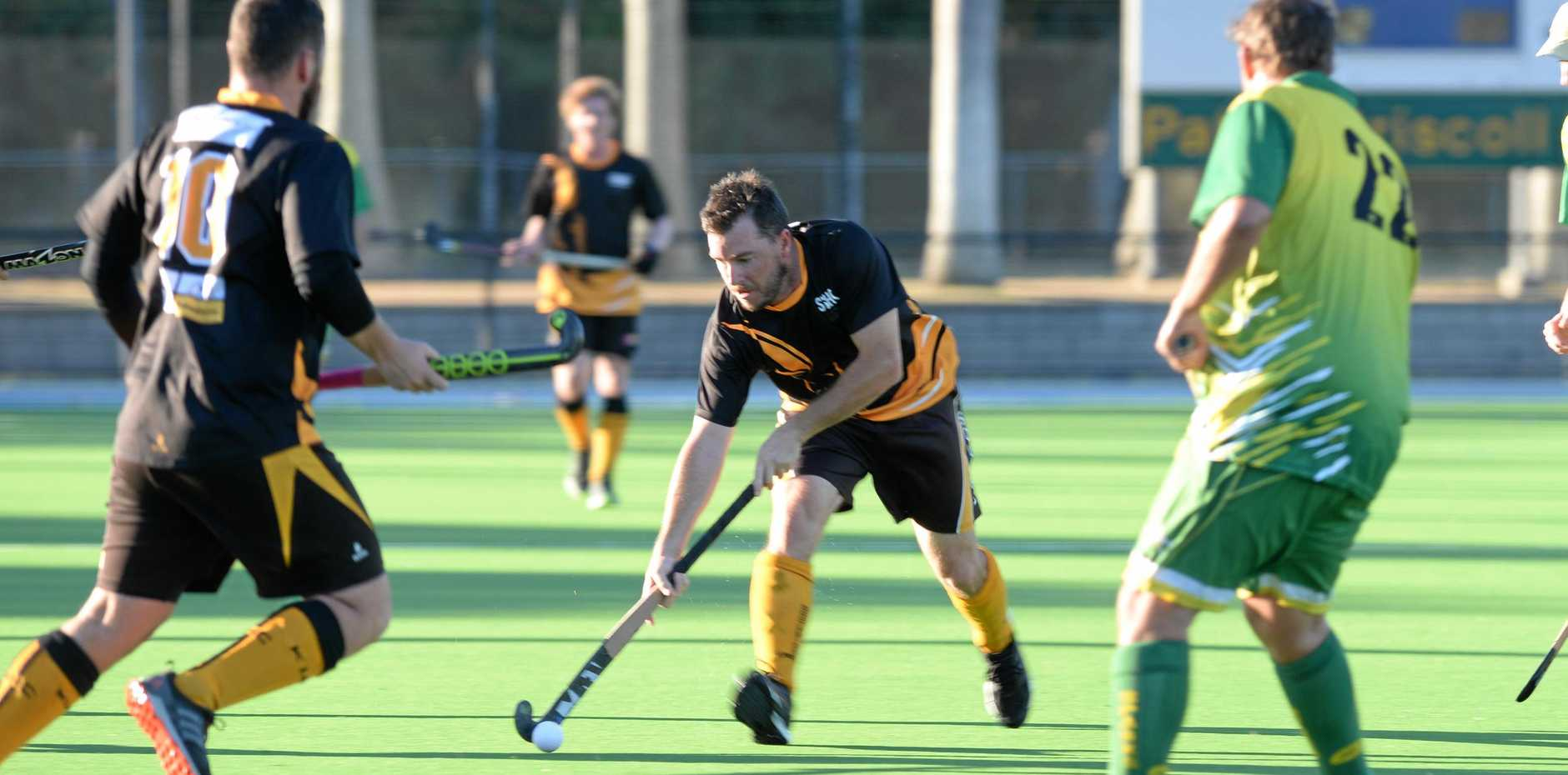 ON TARGET: Southern Suburbs' striker Steven Snell slotted three goals in his team's big win over Sparks at Kalka Shades on Saturday.