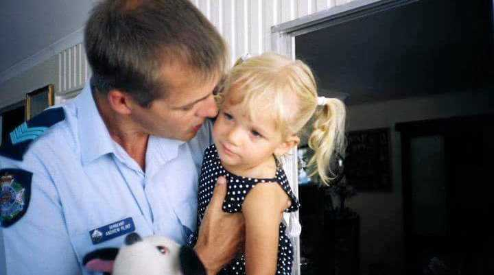 NEVER FORGOTTEN: Andrew Plint with his daughter Hannah, who drowned when she was only two years old.