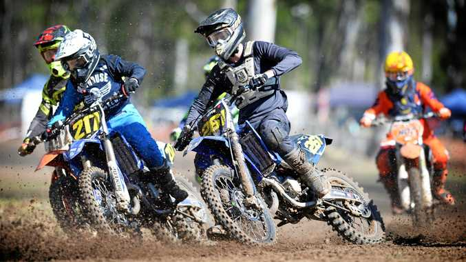 TEARING IT UP: Cooper Torr on track in the junior lites class at the Rockhampton Motocross Club's race day on Sunday, which attracted a 152-strong field.