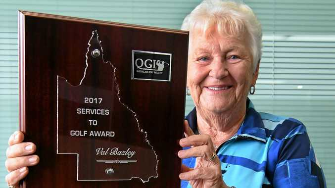 GOLF: 2017 Services To Golf Award - Val Bazley. Ms Bazle has been honoured with an OAM on the weekend.