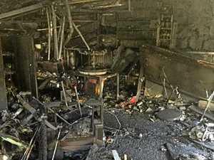 CLOSE CALL: Midnight blaze threatens family, destroys garage