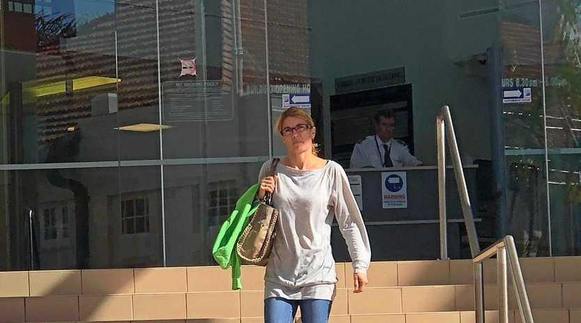 Angela Francesca George, 39, outside the  courthouse.