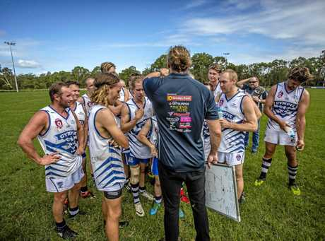 GAME PLAN: Gympie Cats coach Courtney Findlay says his boys are
