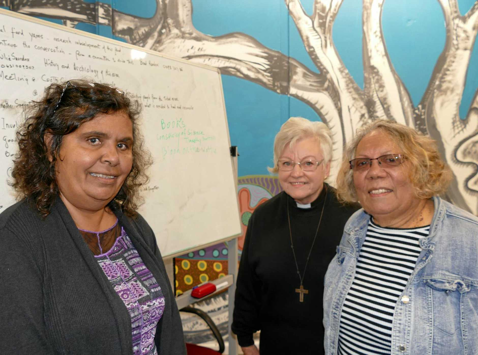 Meeting leader and Indigenous columnist Janelle Brown and Anglican ministers Rev Camellia Flanagan and Rev Lenore Parker were key speakers at the meeting.