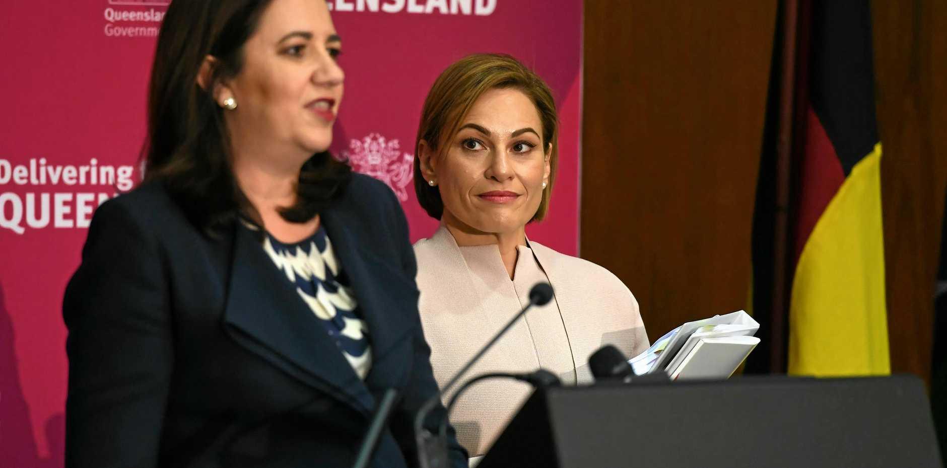 Queensland Premier Annastacia Palaszczuk and Treasurer Jackie Trad.