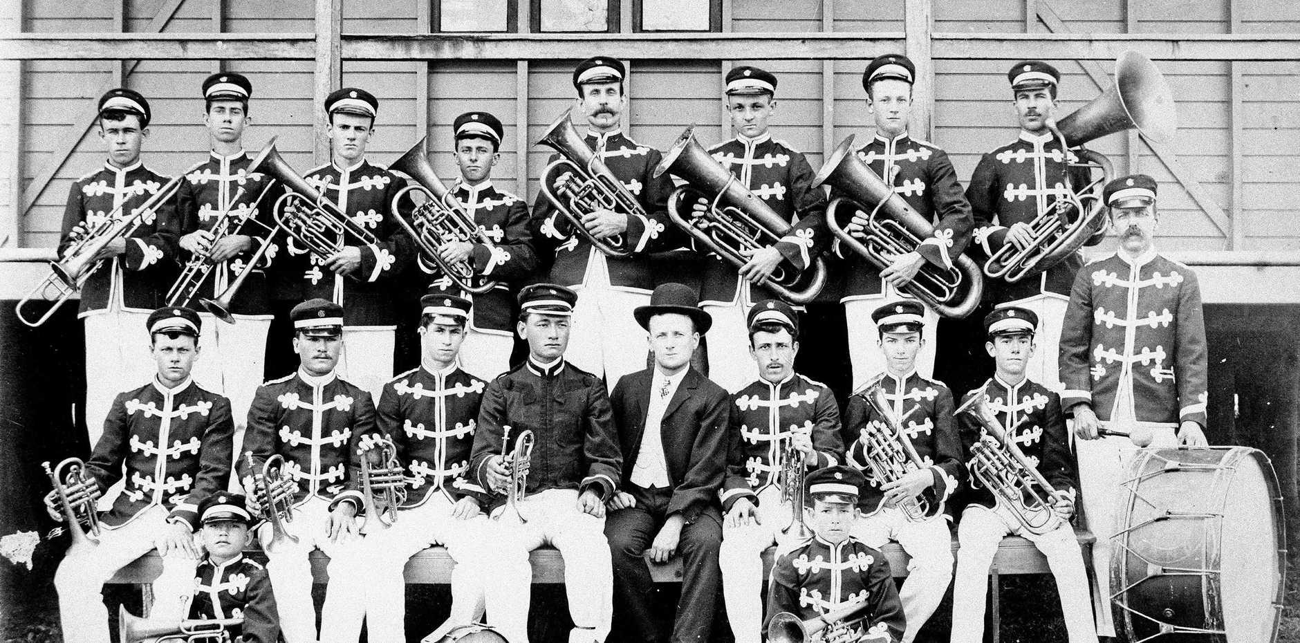 MUSICAL HISTORY: The Lakes Creek Band in Rockhampton.