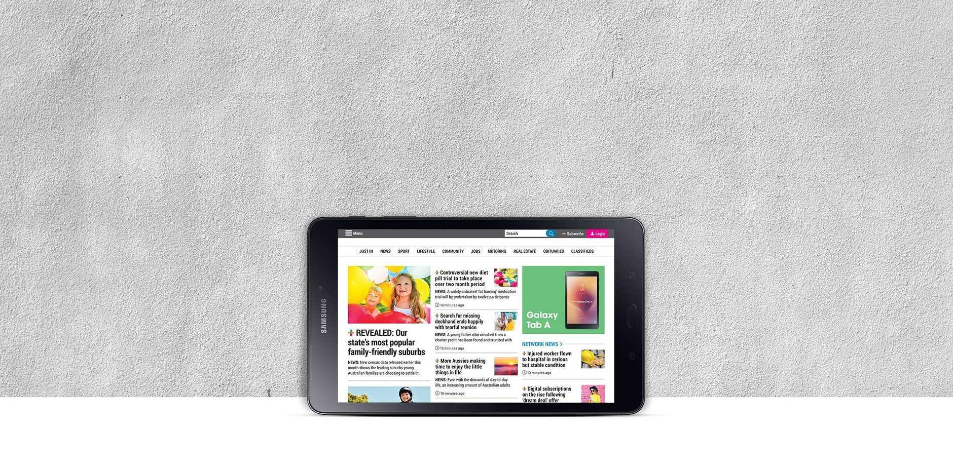 The Samsung Galaxy Tab A 8.0 tablet.